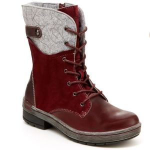 "Jambu lace up leather/wool ""Hemlock"" winter boots"